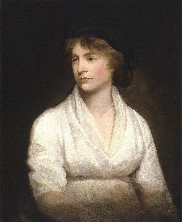 Mary Wollstonecraft, Retrato realizado por John Opie hacia 1797, ational Portrait Gallery de Londres (Reino Unido). Bajo licencia PD-Art.