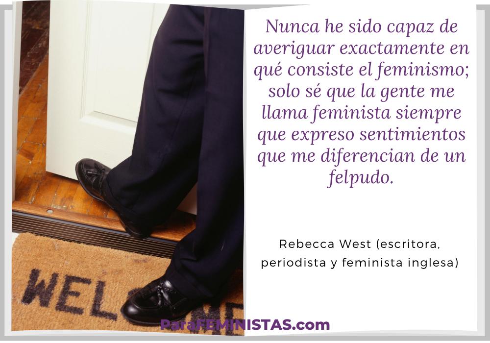 frase feminismo felpudo