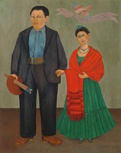 Frida Kahlo y Diego Rivera, 1931, óleo sobre lienzo
